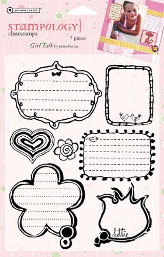 Full Sheet Clear Stamp-Girl Talk $6.15 (save $8.84)
