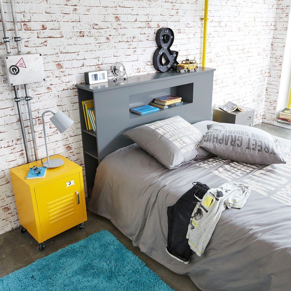 Bett Kopfteil Aus Holz B 140 Cm Grau Tiny House Pinterest