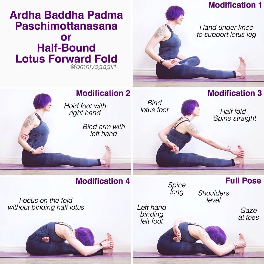 Lotus Pose Forward Bend