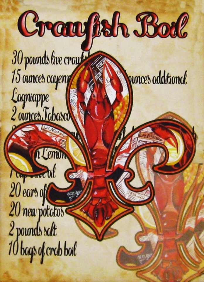 33 Louisiana Crawfish Print This Is The Essential Recipe For The Crawfish Boil At In 2020 Louisiana Crawfish Crawfish Crawfish Boil