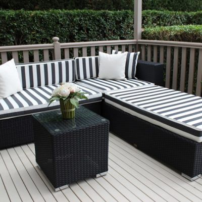 rattan cane chaise outdoor lounge : cane chaise - Sectionals, Sofas & Couches