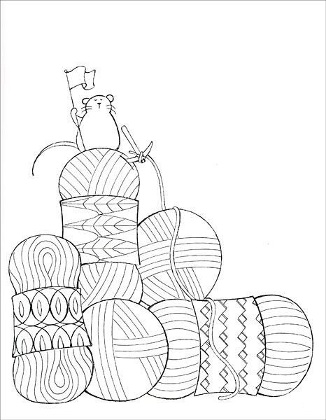 I Dream of Yarn: A Knit and Crochet Coloring Book from ...