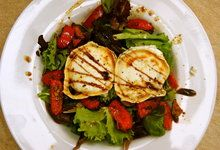 Grilled Goats Cheese Salad with Omega Dressing - Dale Pinnock
