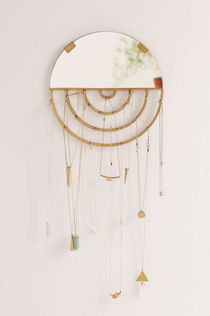Aimee Jewelry Storage Hanging Mirror   Urban Outfitters #UOonCampus  #UOContest