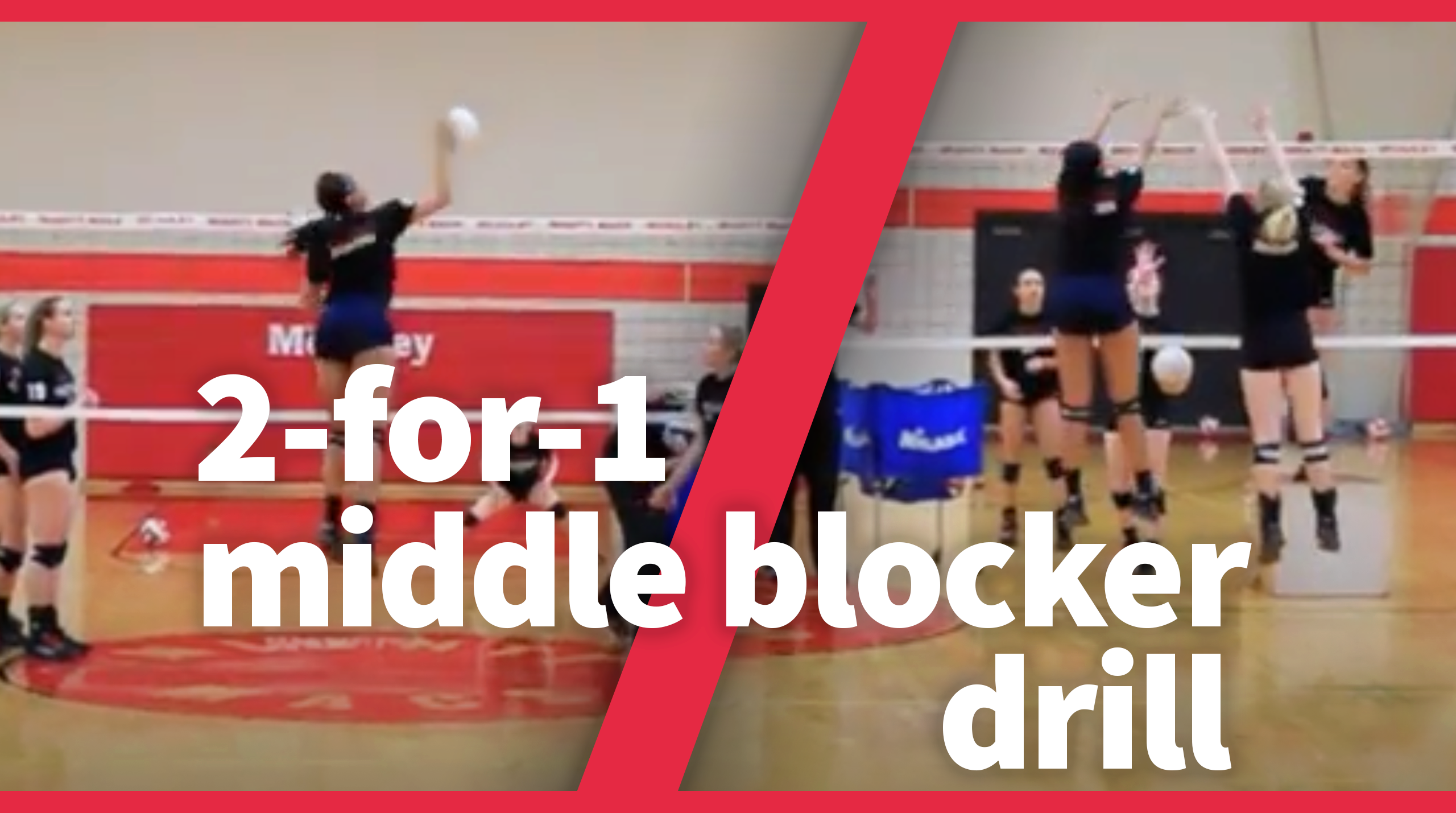 Transition Middle Blocker Drill The Art Of Coaching Volleyball Volleyball Training Volleyball Workouts Volleyball Skills