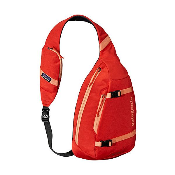 Patagonia Atom Sling Sling ($49) ❤ liked on Polyvore featuring bags, backpacks, red, slings, backpack messenger bag, mesh backpack, sling messenger bag, red messenger bag and messenger bag