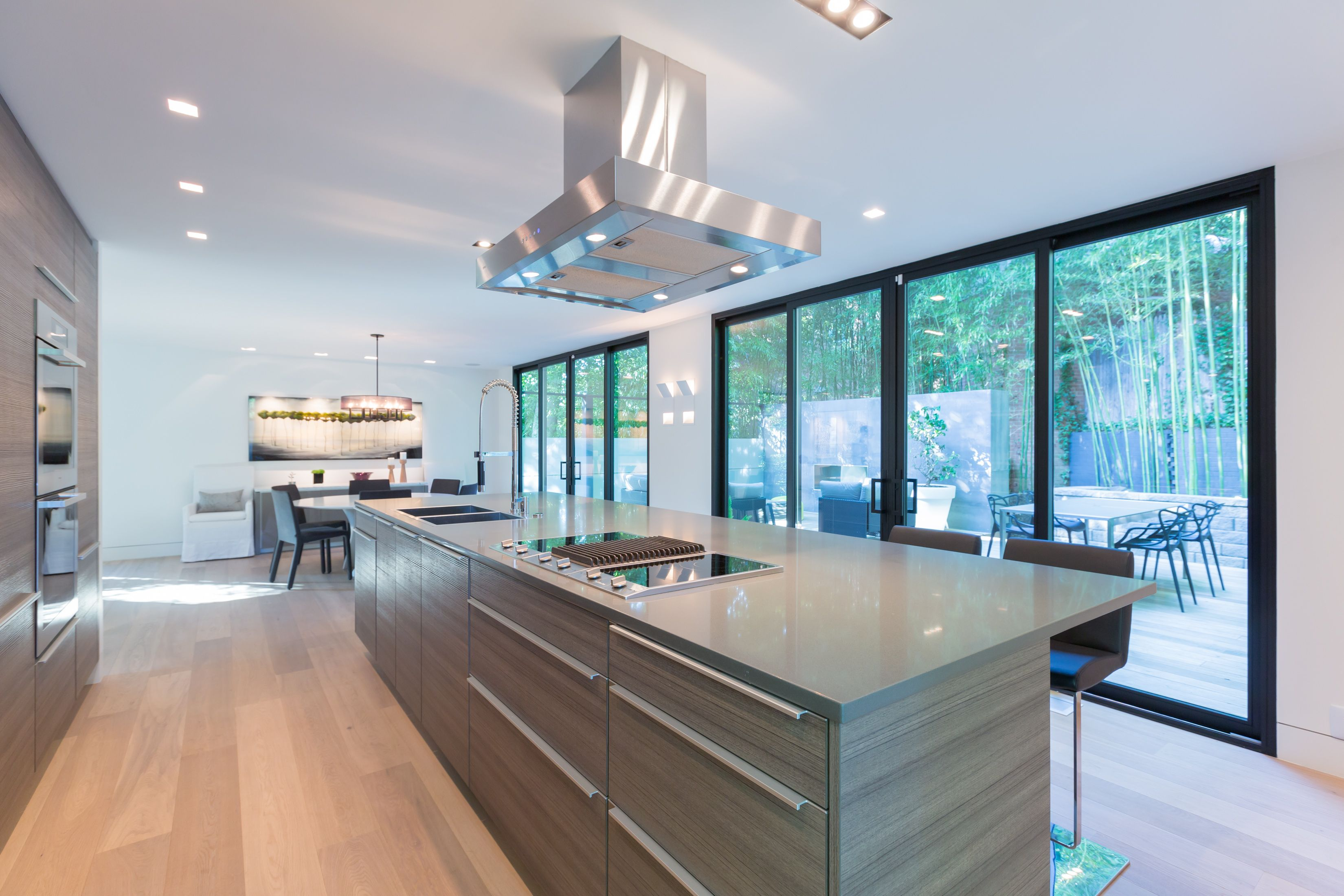 Modern kitchen with Poggenpohl cabinetry, Miele refrigerator, double ...