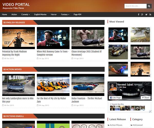 Video Portal Blogger Template | @templateweblogs | Pinterest | Template