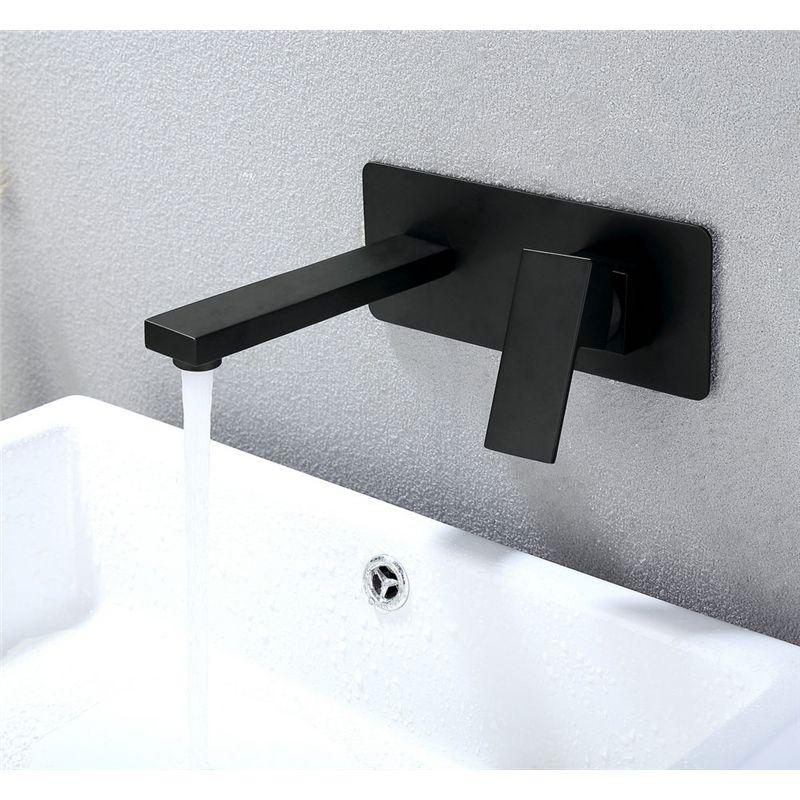 Photo of Waschtischarmatur Einhandmischer Wandmontage Schwarz
