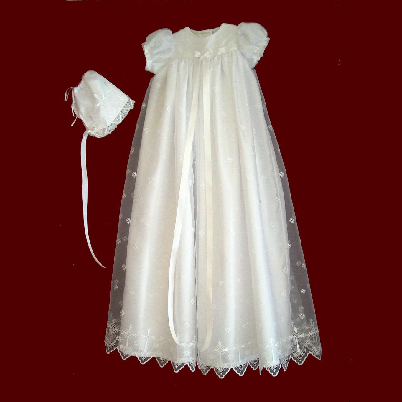Christening+Gowns+for+Girls | Embroidered Organza Christening Gown ...