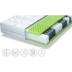 Schlaraffia 7-zone pocket spring mattress Bora Pure 55 Tfk ¦ white ¦ Dimensions (cm): W: 140 H: 22 Matr