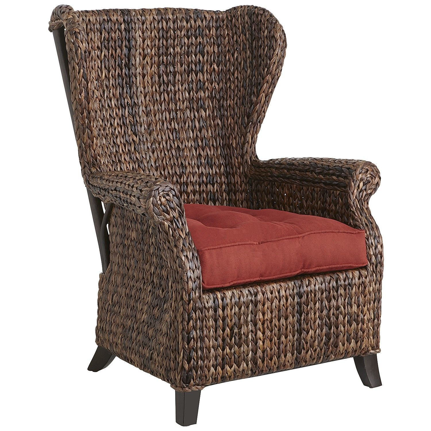 Wingback Recliner Chair Canada Canvas Covers Nz Graciosa Mocha Brown Wicker Wing Home Living
