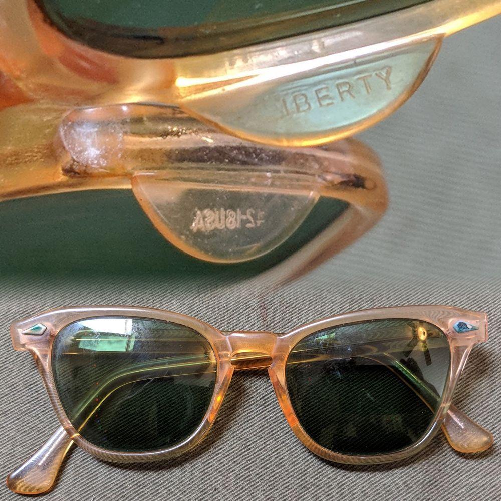 3056e1637f1 Vintage 1950s Transparent Yellow Liberty Cateye Plastic Sunglasses  fashion   clothing  shoes  accessories  vintage  vintageaccessories (ebay link)