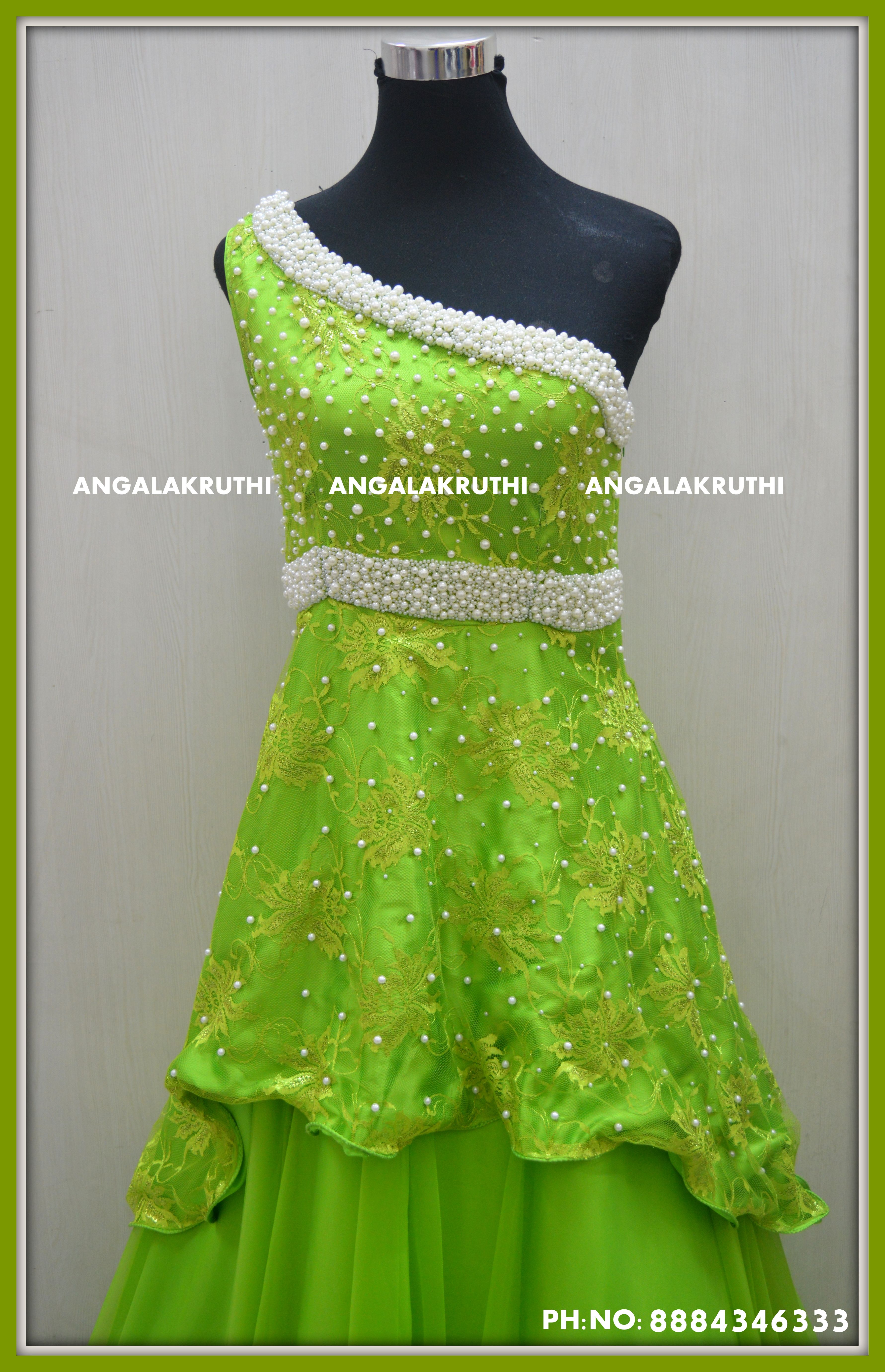 Long Gown With Rich Pearl Embroidery By Angalakruthi Boutique Bangalore Ladies And Kids Designer Boutique In Bangalore Clothes For Women Fashion Dresses