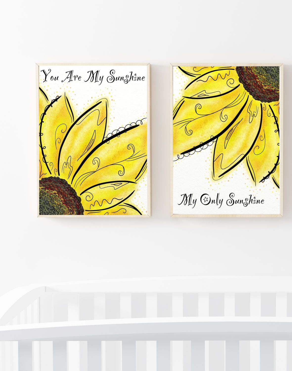 Yellow Flower Canvas, You Are My Sunshine Wall Print, Sunflower ...