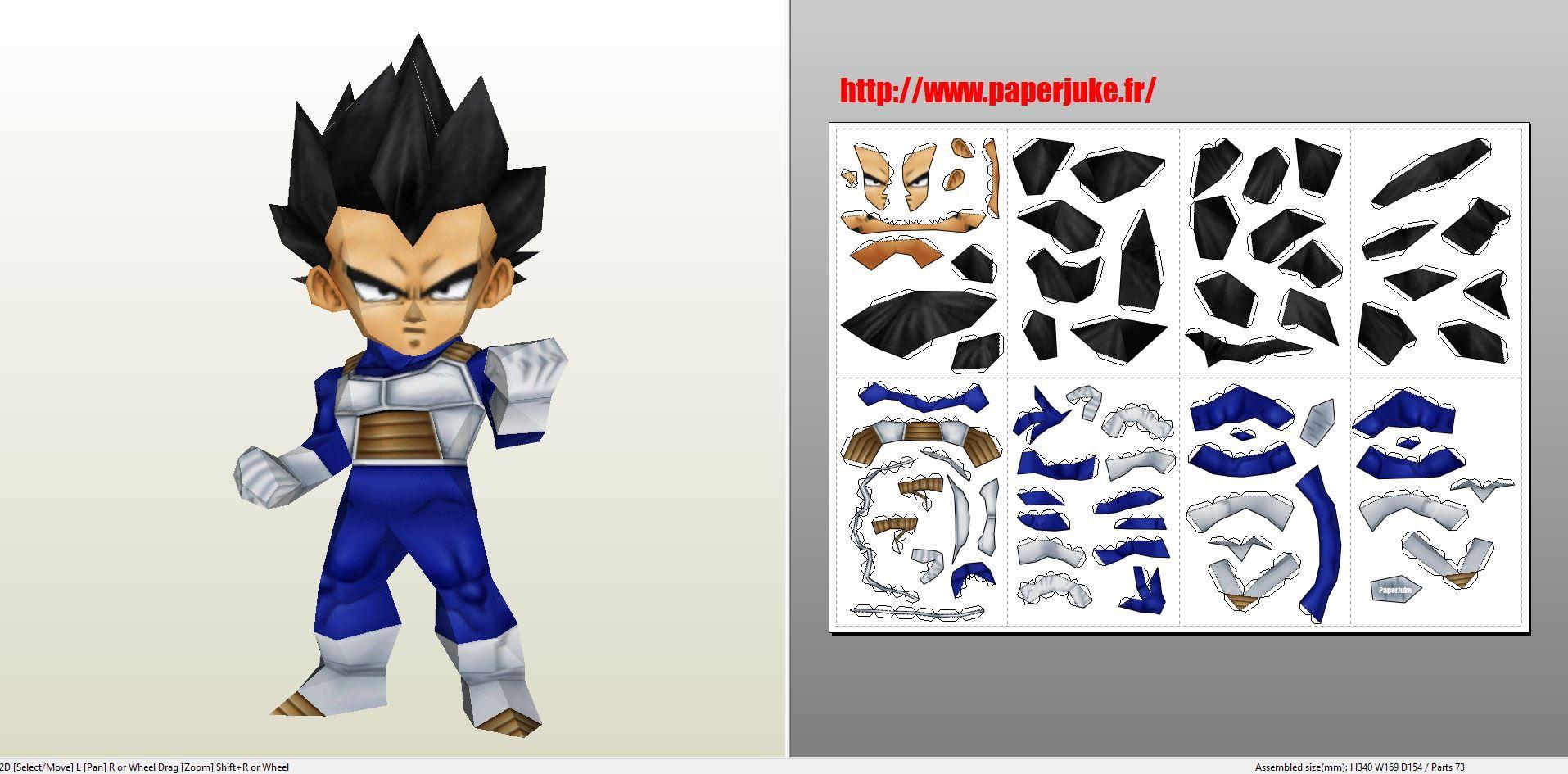 Papercraft Dragon Ball Z Pdf