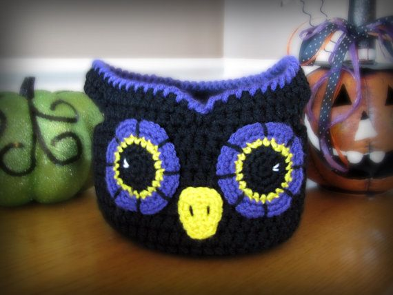 Owl Basket CROCHET PATTERN instant download - bag bowl | Körbchen ...