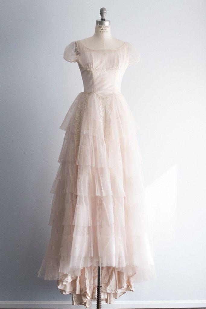 True Vintage Brautkleid Nr. 12: Beschreibung: Wundervolles blush ...