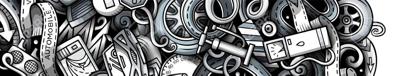 #Auto #banner #doodle #drawn #hand #Auto -  #Auto #Banner #Gekritzel #gezeichnet #Hand #Auto   - #Auto #Autosskizze #banner #Doodle #drawn #Hand