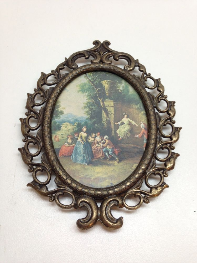 Brass Picture Frame Antique Made in Italy Vintage With Nice Italy ...