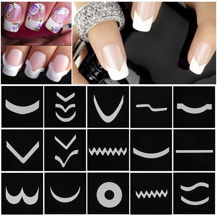 18 French Nail Tip Manicure Stickers | French Manicure | Nailways ...