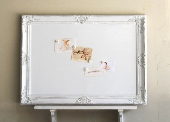 Decorative Whiteboard Dry Erase Board Kitchen Organizer White Magnetic Bulletin Office Shabby