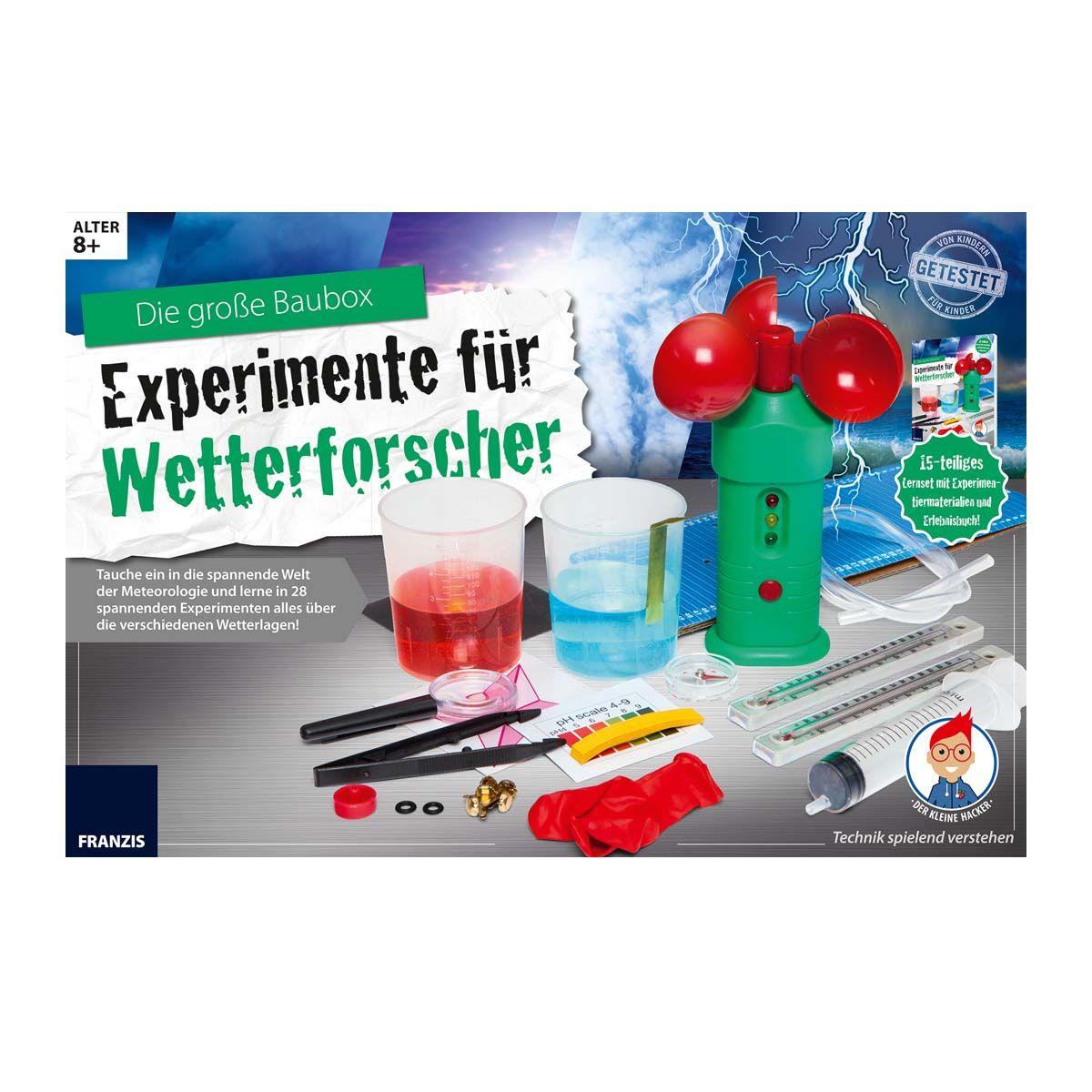 Franzis Die große Baubox: Experimente für Wetterforscher
