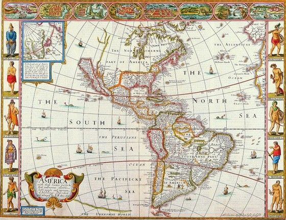 Love this antique map of the Americas.  Wonderful insights into the few of the world through this map.