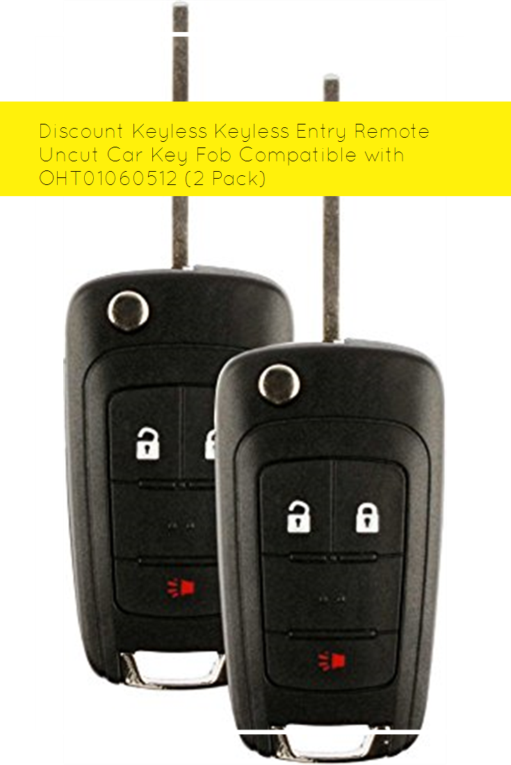 Discount Keyless Keyless Entry Remote Uncut Car Key Fob Compatible With Oht01060512 2 Pack Car Key Fob Keyless Car Keys