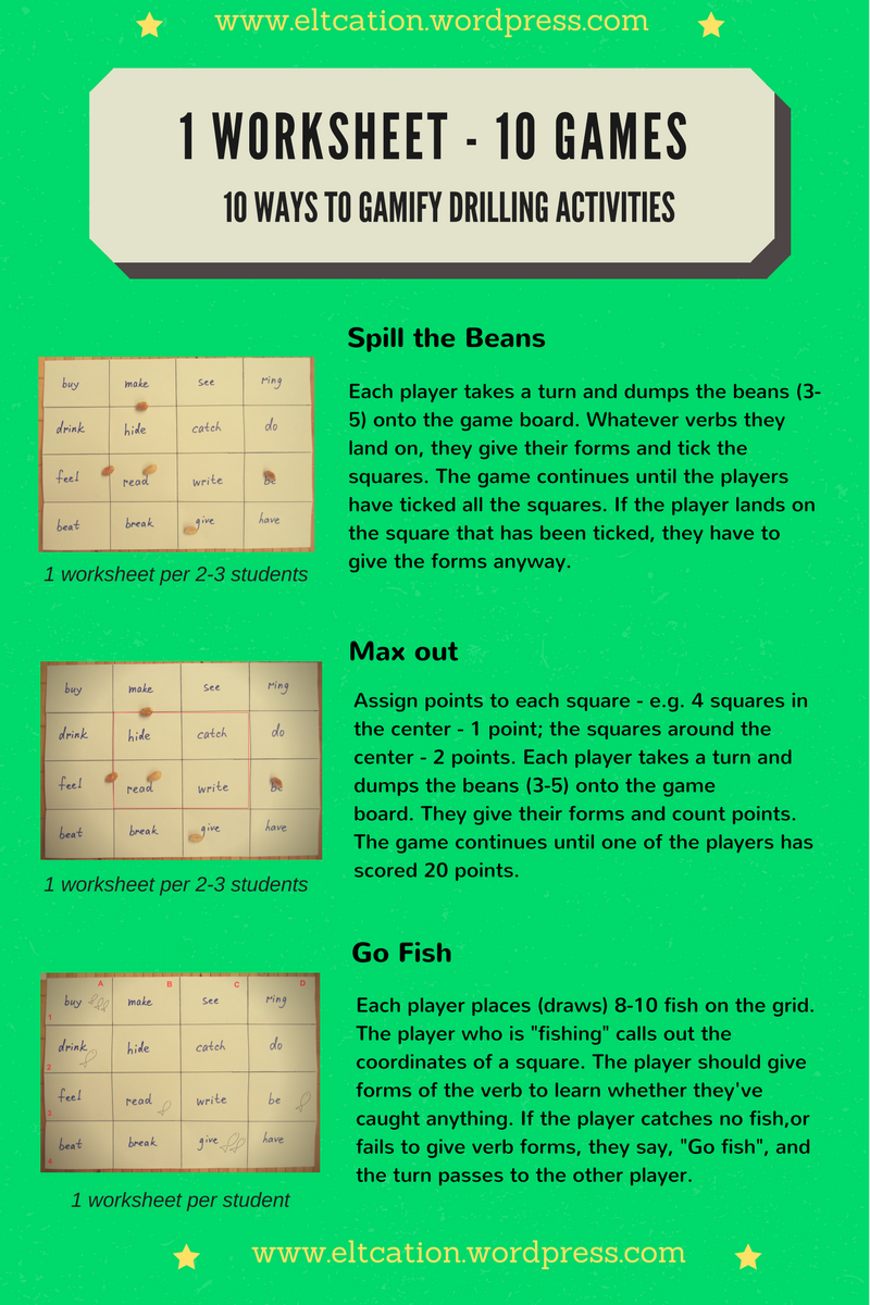 1 Worksheet 10 Games Worksheets Teaching Vocabulary Teacher Design [ 1200 x 800 Pixel ]
