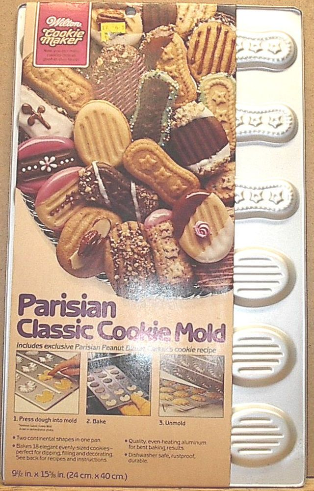 Candy Covered Cookies Recipe  |Wilton Cookie Mold Recipes