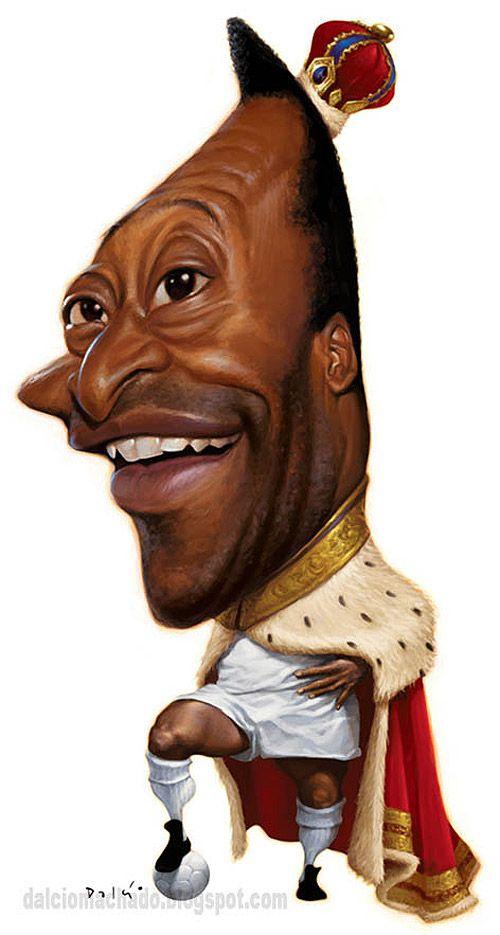 Caricatura de Pelé.