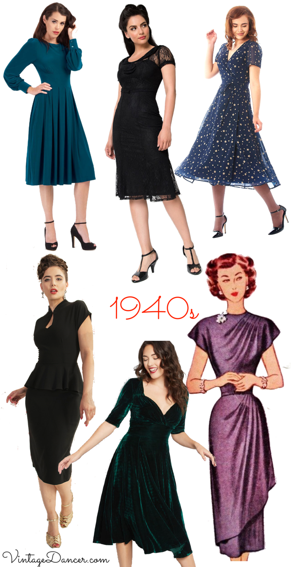 Kjoler Dresses I Dresses 1940s Cocktail Party 2018 wqYwSH