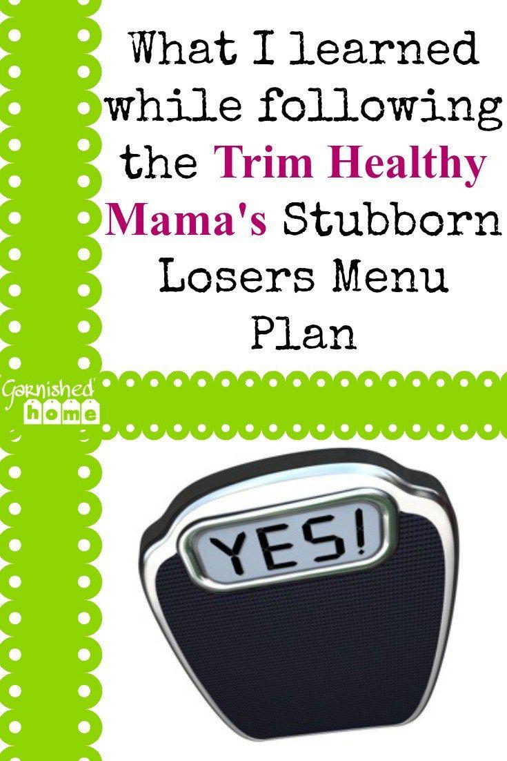 Trim Healthy Mama Stubborn Losers Menu Plan | THM Recipes ...
