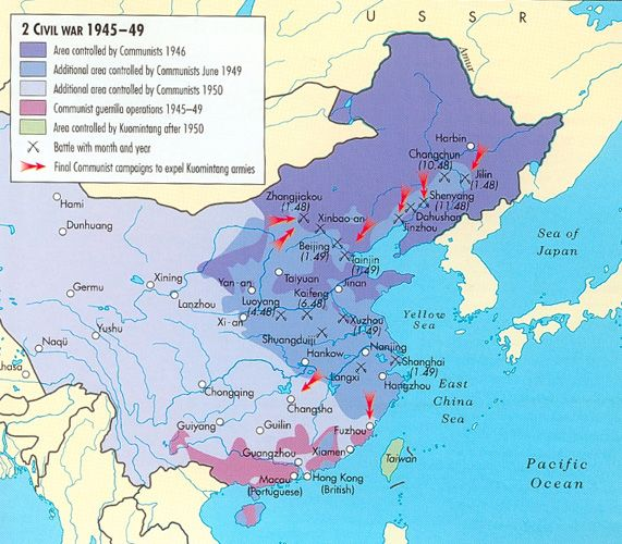 Cold War Map Of Asia.Chinese Civil War China Communisim Pinterest Historical Maps