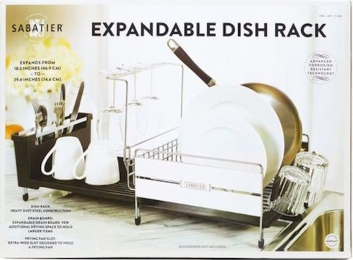 Sabatier Dish Rack Magnificent New Sabatier Expandable Dish Drying Rack Heavy Duty Steel Cons No Decorating Design