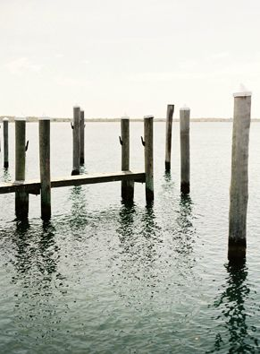 Coastal Vintage: weathered dock. #elegantwedding