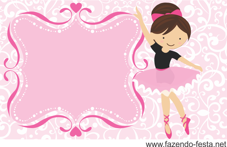 Sweet Ballerina free printable card or candy bar label