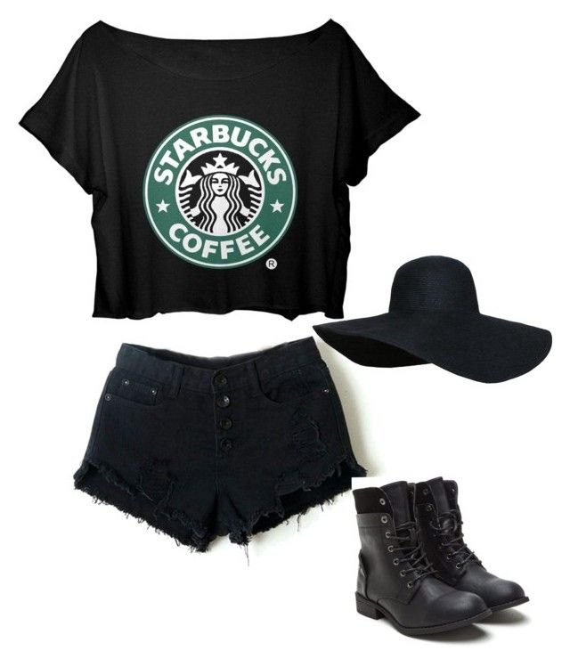 """""""Starbucks Outfit ☕️"""" by oliviab517 ❤ liked on Polyvore"""