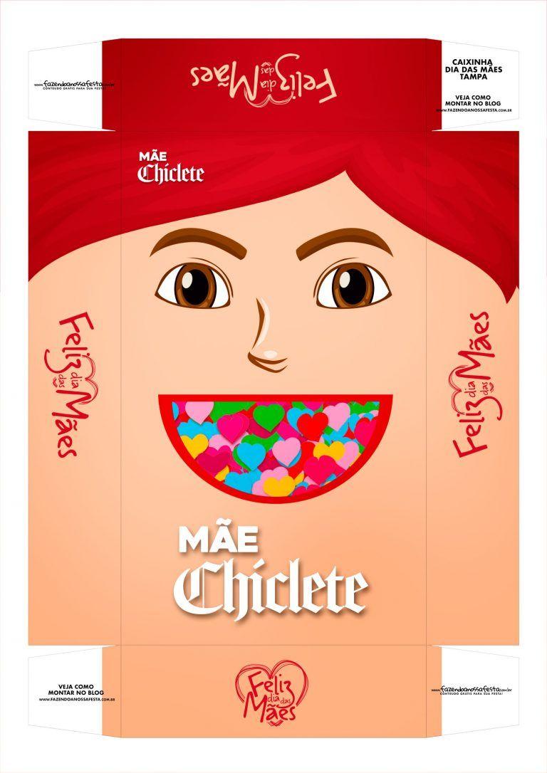 Caixa Personalizada Mae Chiclete Tampa Caixas Personalizadas
