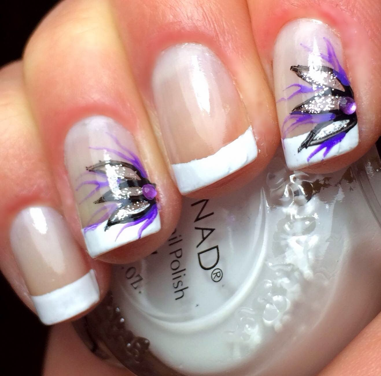 Nails by an OPI Addict: French Tip Flowers | Nail Heaven ...