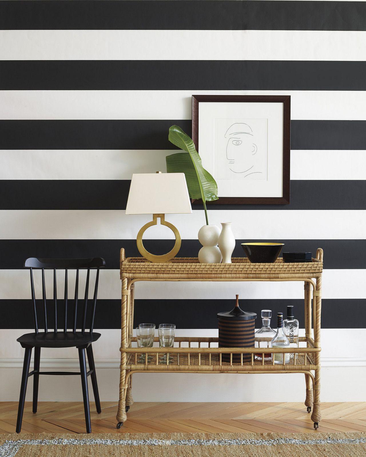Best Wide Stripe Wallpaper Serena Lily Striped Wallpaper 400 x 300