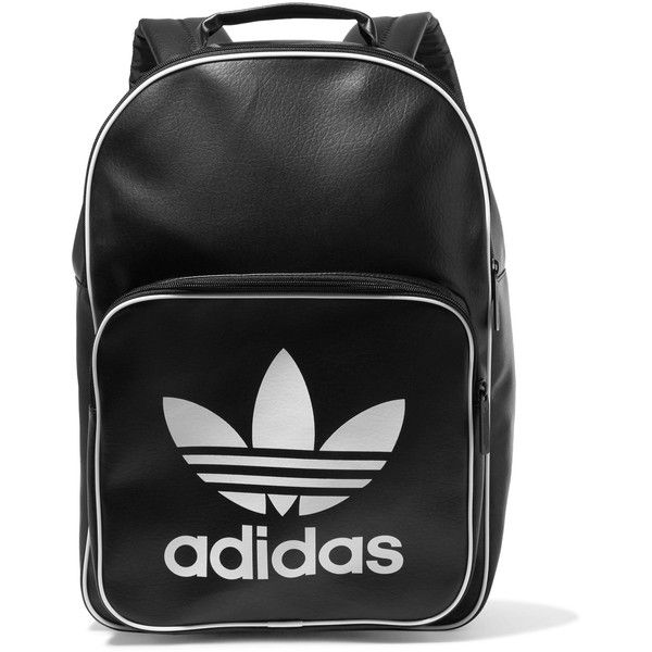 1620b2bb07 ADIDAS ORIGINALS Faux leather backpack ( 27) ❤ liked on Polyvore featuring  bags