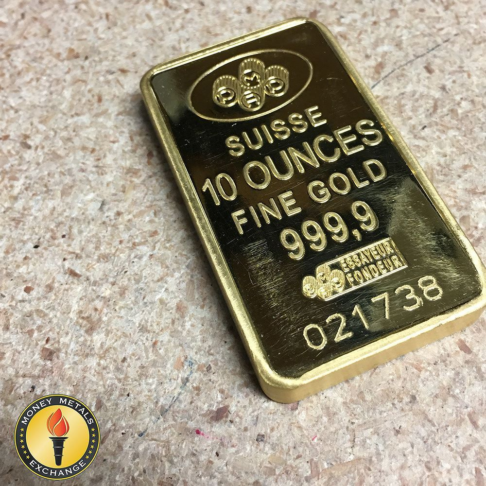 Buy 10 Oz Gold Bars Credit Suisse Gold Bars Money Metals Money Gold Bullion Bars Gold Money