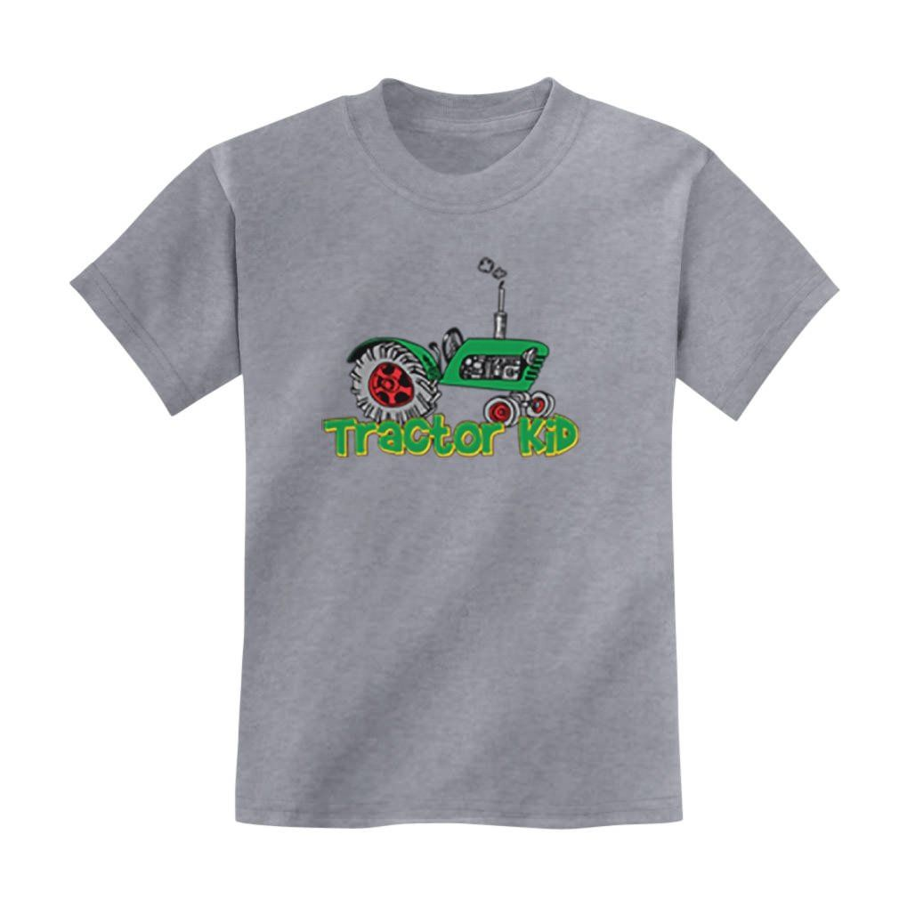 TeeStars - Tractor Kid Kids T-shirt 4T Grey. 100% combed-cotton classic crew neckline short sleeve t-shirt. Wear it day or night for an instantly awesome look! FOR CORRECT SIZING please refer to TeeStars size chart which appears as one of the images to the left. Trendy, brightly colored graphics. A unique gift idea for a friend or family member. Available in toddler- junior / youth size. Printed exclusively in the USA. Using the latest in garment printing technology - the same quality you...