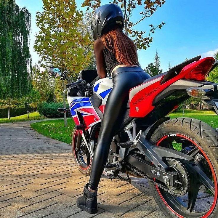 Pin von ️Lederlady ️ auf Motorrad Girls ️   Motorrad