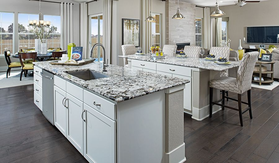 Two Kitchen Islands Just Another Amazing Feature Of This Aurora Co Home