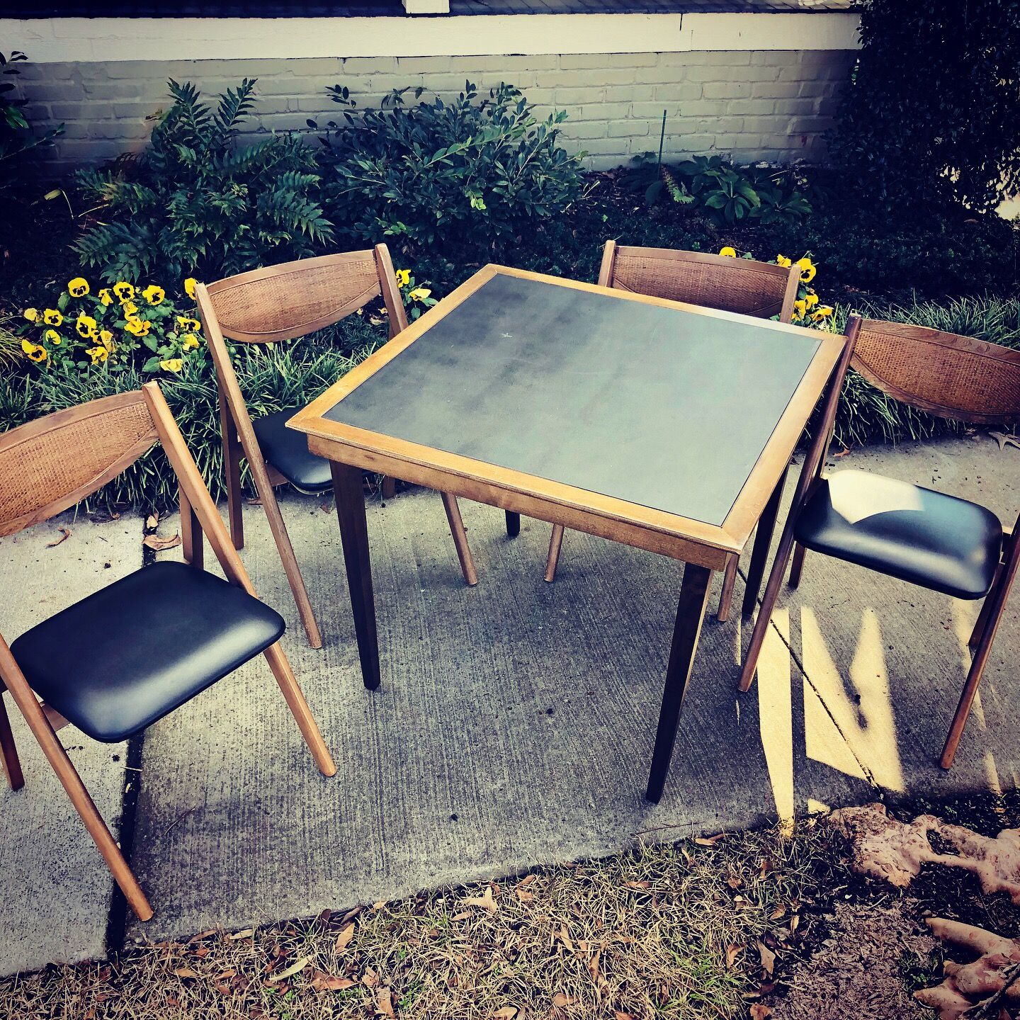 Fabulous Mid Century Modern Folding Game Table With Folding