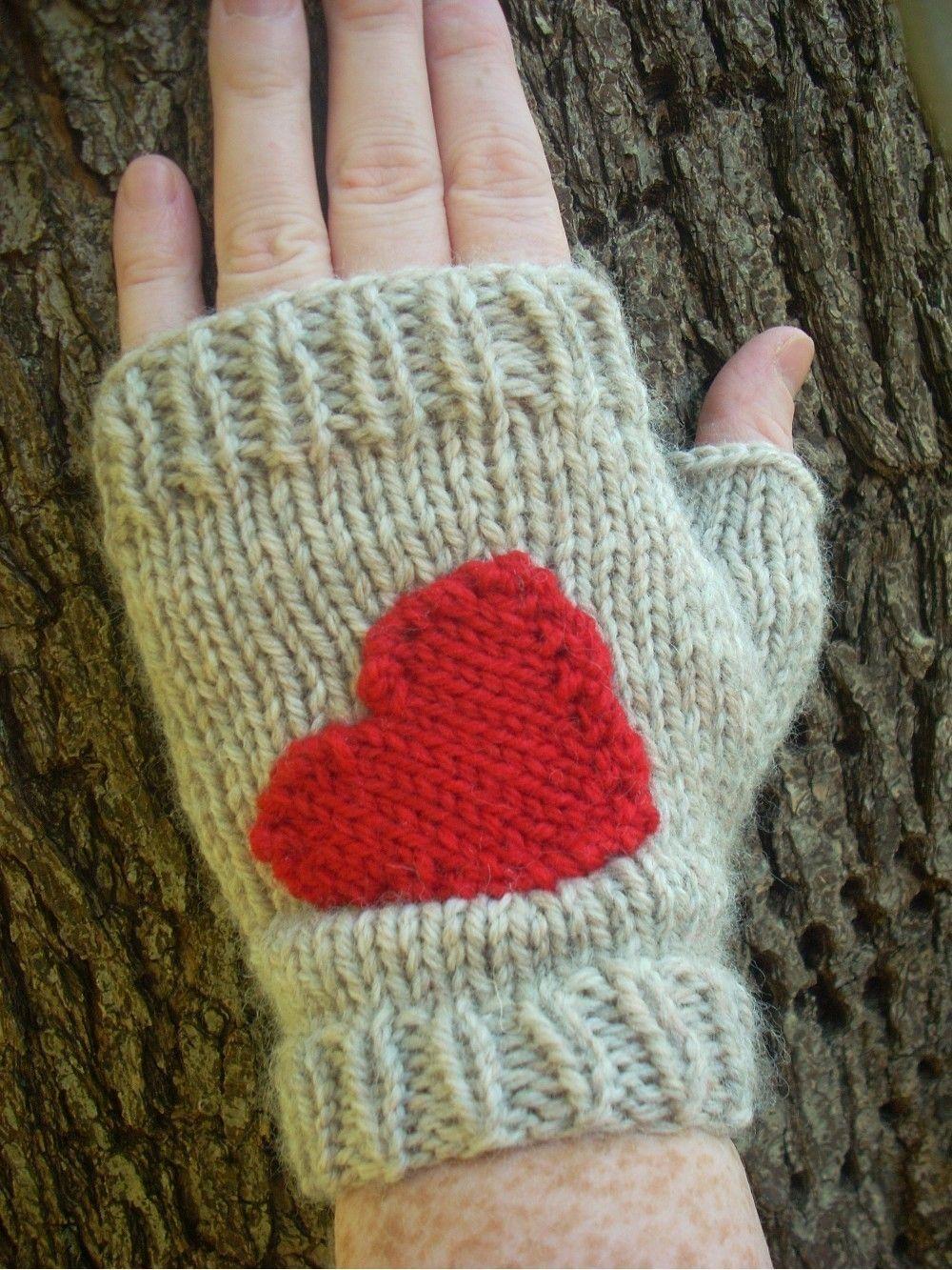 KNITTING PATTERN- Fingerless Gloves Hearted. $4.00, via Etsy ...