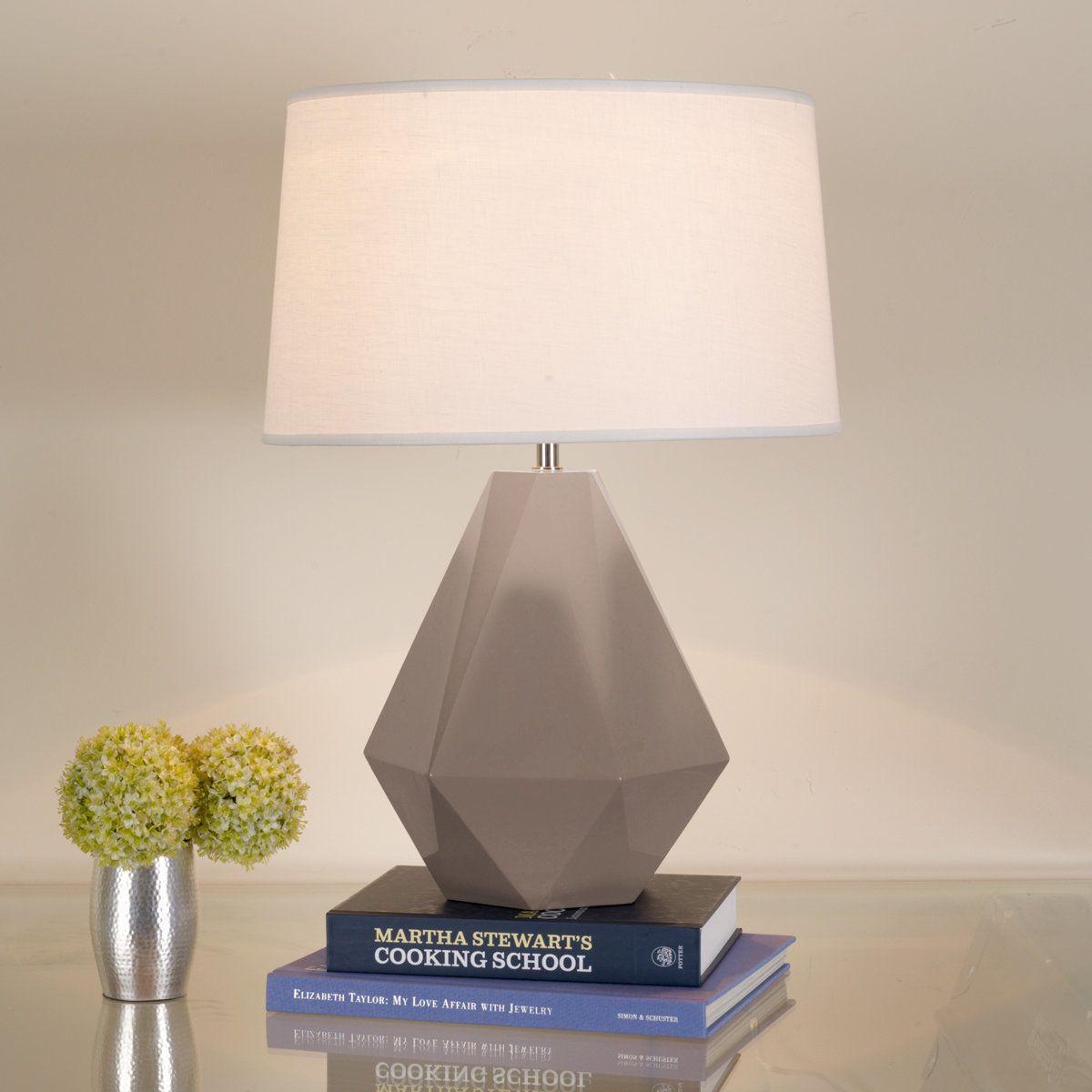 Beautiful Sizzling Colors Geometric Ceramic Table Lamp Nice Look